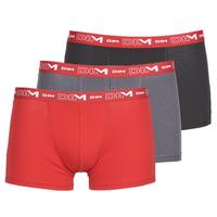 Roupa de interior Homem Boxer DIM COTON STRETCH Cinza / Vermelho / Preto