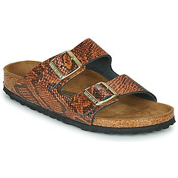 Sapatos Mulher Chinelos Birkenstock ARIZONA Castanho