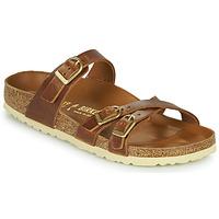 Sapatos Mulher Chinelos Birkenstock FRANCA Castanho