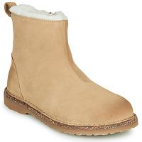 Sapatos Mulher Botas baixas Birkenstock MELROSE SHEARLING Bege