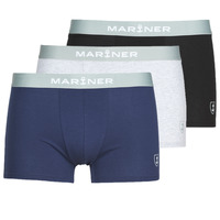 Roupa de interior Homem Boxer Mariner PACK COTON BIO X3 Preto / Marinho / Cinza