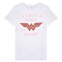 Textil Rapariga T-Shirt mangas curtas Name it NKFWONDERWOMEN Branco