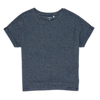 Textil Rapariga T-Shirt mangas curtas Name it NKFKYRRA Marinho