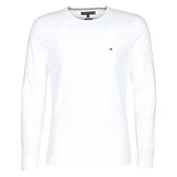 Textil Homem T-shirt mangas compridas Tommy Hilfiger STRETCH SLIM FIT LONG SLEEVE TEE Branco