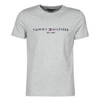 Textil Homem T-Shirt mangas curtas Tommy Hilfiger TOMMY LOGO TEE Cinza