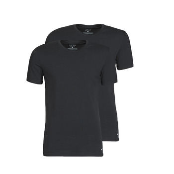 Textil Homem T-Shirt mangas curtas Nike EVERYDAY COTTON STRETCH Preto