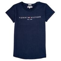 Textil Rapariga T-Shirt mangas curtas Tommy Hilfiger KG0KG05242-C87 Marinho