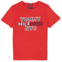Textil Rapaz T-Shirt mangas curtas Tommy Hilfiger KB0KB05848-XNL Vermelho