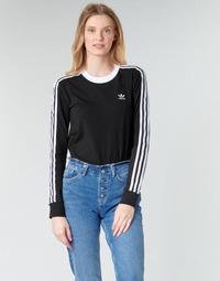 Textil Mulher T-shirt mangas compridas adidas Originals 3 STR LS Preto