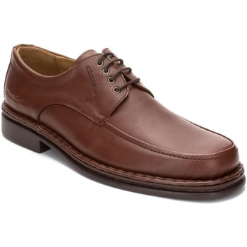 Sapatos Homem Sapatos Comodo Sport Calzado con cordones de piel de hombre by Marron