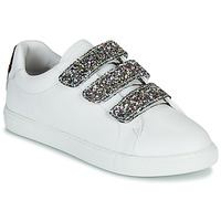 Sapatos Mulher Sapatilhas Bons baisers de Paname EDITH GLITTER TONGUE Branco