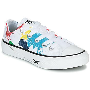 Sapatos Criança Sapatilhas Converse CHUCK TAYLOR ALL STAR - OX Branco / Multicolor