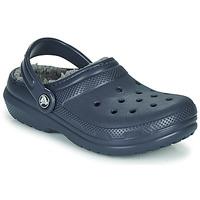 Sapatos Criança Tamancos Crocs CLASSIC LINED CLOG K Azul