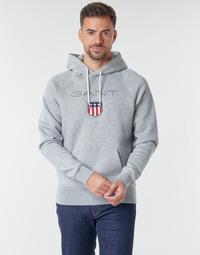 Textil Homem Sweats Gant GANT SHIEL HOODIE Cinza