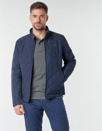 Textil Homem Jaquetas Gant QUILTED WINDCHEATER Marinho