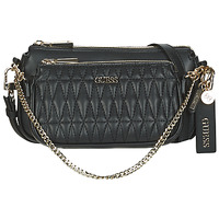 Malas Mulher Bolsa tiracolo Guess ARIE DOUBLE POUCH CROSSBODY Preto