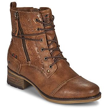 Sapatos Mulher Botas baixas Mustang 1229508 Conhaque