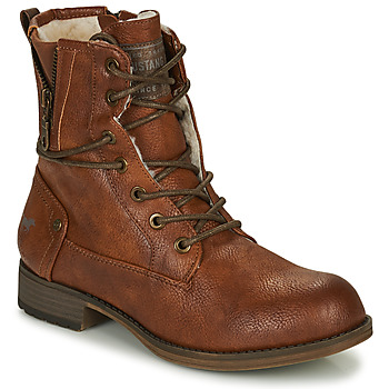 Sapatos Mulher Botas baixas Mustang 1139630 Conhaque
