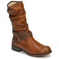 Sapatos Mulher Botas Mustang 1139624 Conhaque