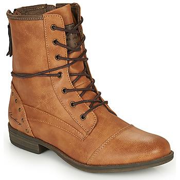 Sapatos Mulher Botas baixas Mustang 1157508 Camel