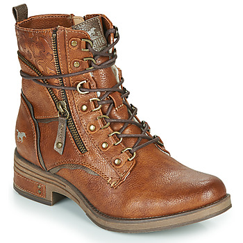 Sapatos Mulher Botas baixas Mustang 1293601 Conhaque