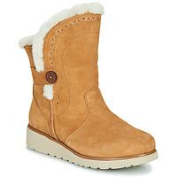 Sapatos Mulher Botas baixas Skechers KEEPSAKES WEDGE Camel