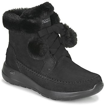 Sapatos Mulher Botas baixas Skechers ON-THE-GO JOY Preto