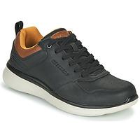Sapatos Homem Sapatilhas Skechers DELSON 2.0 PLANTON Preto / Camel