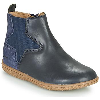 Sapatos Rapariga Botas baixas Kickers VERMILLON Marinho