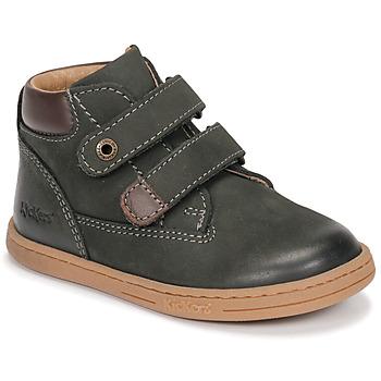 Sapatos Rapaz Botas baixas Kickers TACKEASY Cáqui