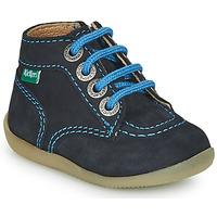 Sapatos Rapaz Botas baixas Kickers BONZIP-2 Marinho
