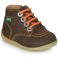 Sapatos Rapaz Botas baixas Kickers BONZIP-2 Castanho / Laranja