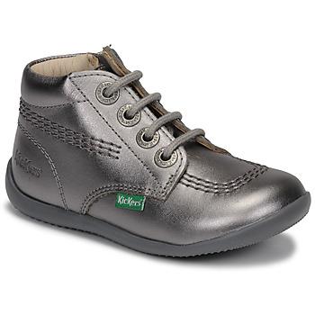 Sapatos Rapariga Botas baixas Kickers BILLYZIP-2 Prata