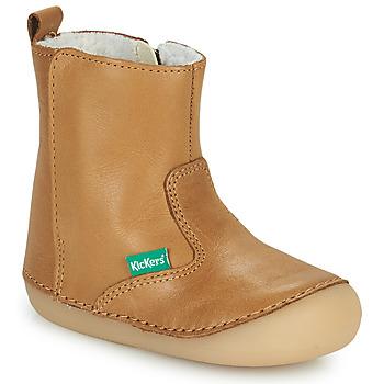 Sapatos Rapariga Botas baixas Kickers SOCOOL CHO Camel
