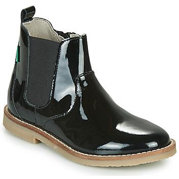 Sapatos Rapariga Botas baixas Kickers TYPIK Preto / Verniz