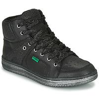Sapatos Rapariga Sapatilhas de cano-alto Kickers LOWELL Preto