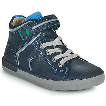 Sapatos Rapaz Sapatilhas de cano-alto Kickers IRELAS Marinho / Azul
