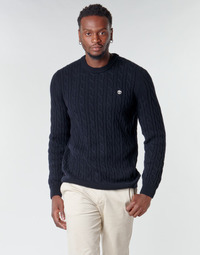 Textil Homem camisolas Timberland LAMBWOOL CABLE Marinho