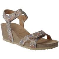 Sapatos Mulher Sandálias Calzados Penelope Penelope Collection 5754 Sandalias con Cuña de Mujer Bege