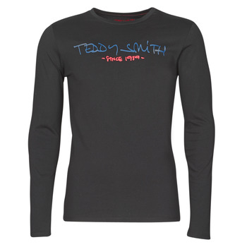 Textil Homem T-shirt mangas compridas Teddy Smith TICLASS BASIC M Preto