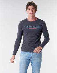 Textil Homem T-shirt mangas compridas Teddy Smith TICLASS BASIC M Marinho