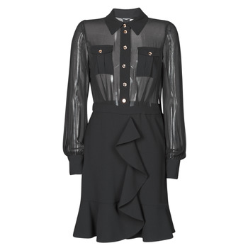 Textil Mulher Vestidos curtos Marciano CAROL SHORT DRESS Preto