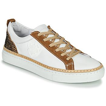 Sapatos Mulher Sapatilhas Philippe Morvan CORK V1 NAPPA BLANC Branco / Camel