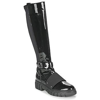 Sapatos Mulher Botas baixas Philippe Morvan DARMY V1 VERNIS NOIR Preto