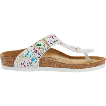 Sapatos Mulher Chinelos Birkenstock Gizeh Kids BS Confetti White (narrow) Wit