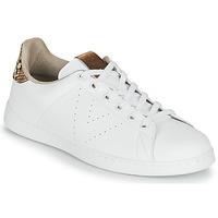 Sapatos Mulher Sapatilhas Victoria TENIS PIEL VEG Branco / Castanho