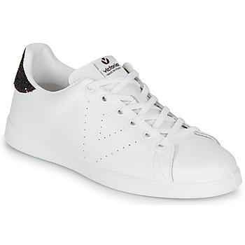 Sapatos Mulher Sapatilhas Victoria TENIS PIEL Branco / Bordô