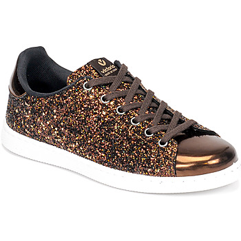 Sapatos Mulher Sapatilhas Victoria TENIS GLITTER Bronze