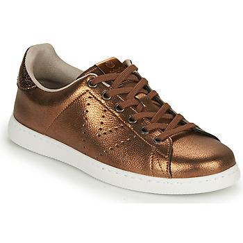 Sapatos Mulher Sapatilhas Victoria TENIS METALIZADO Bronze