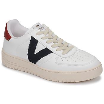 Sapatos Sapatilhas Victoria SIEMPRE PIEL VEG Branco / Azul / Vermelho